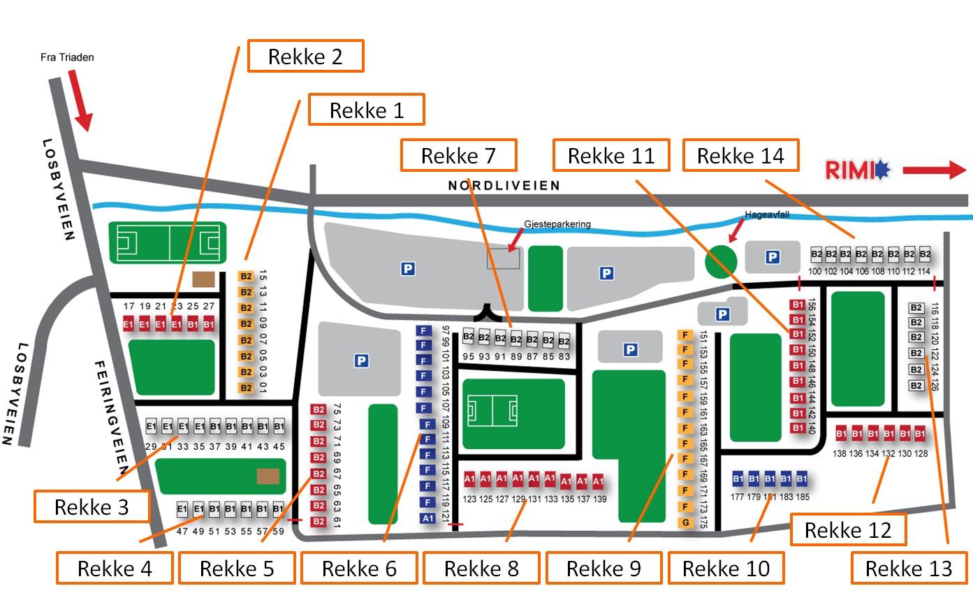 Kart Mellomenga med rekkenummer